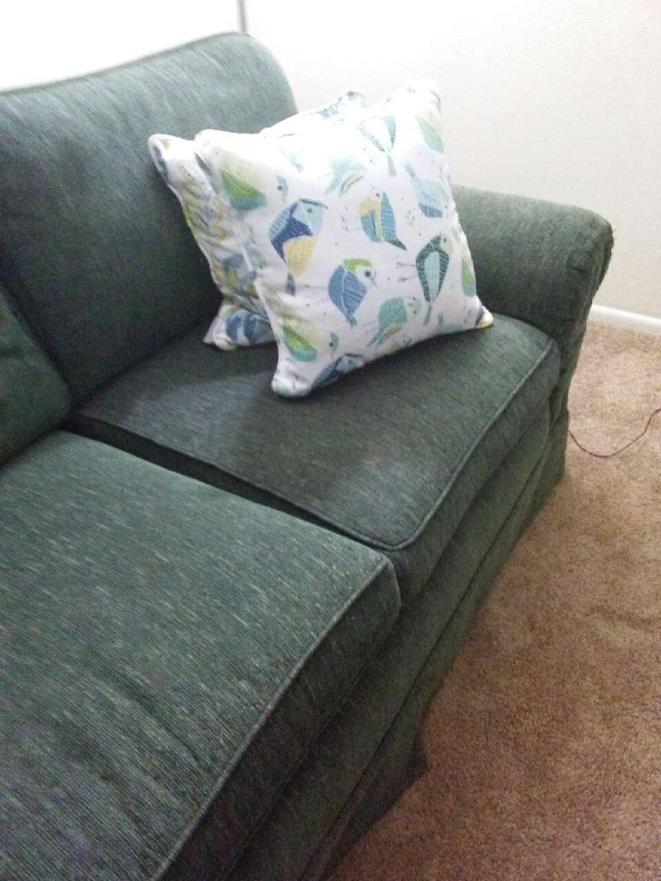 Letgo Black Fabric Loveseat In Jacksonville Fl