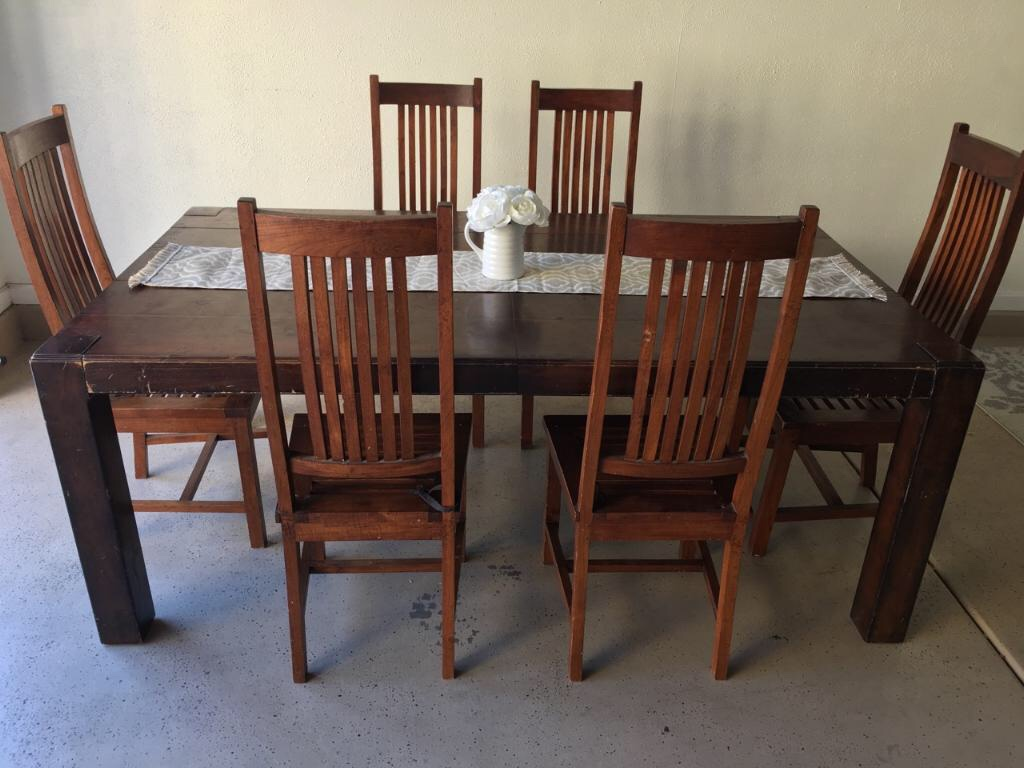 Letgo Large Formal Dining Table 6 Chairs In Glendale AZ