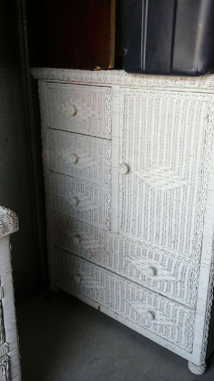 White Wicker Armoire 28 Images White Wicker Armoire Ebth Traditional Wicker Armoire Letgo
