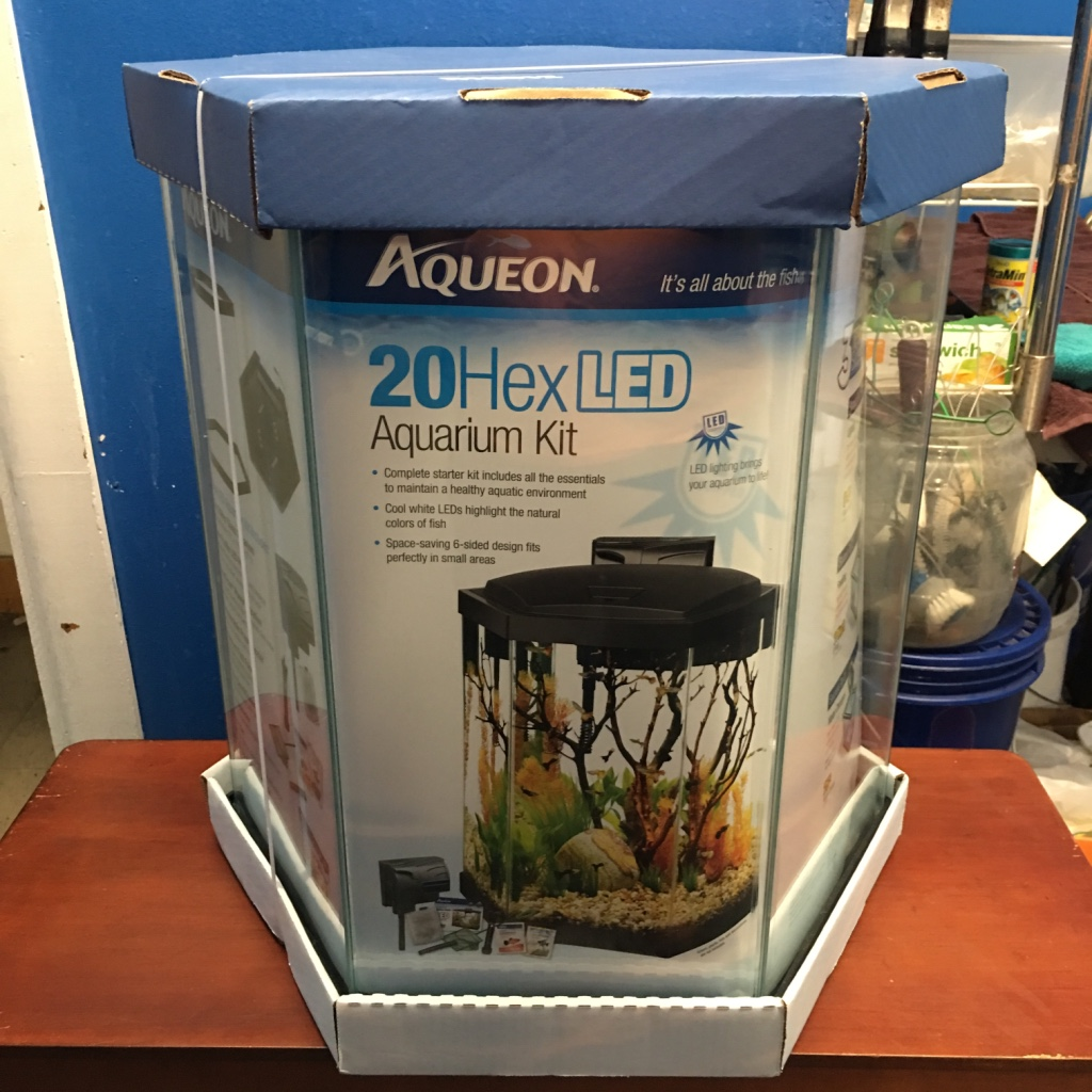 Letgo 20 gallon brand new hexagon aquariu in lamott pa for 20 gallon hexagon fish tank