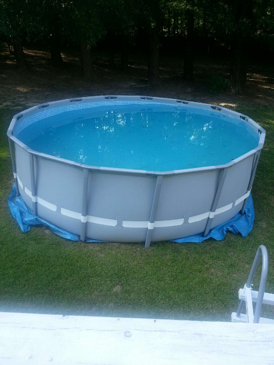 Letgo gray above ground swimming pool in nashville nc for Best looking above ground pools