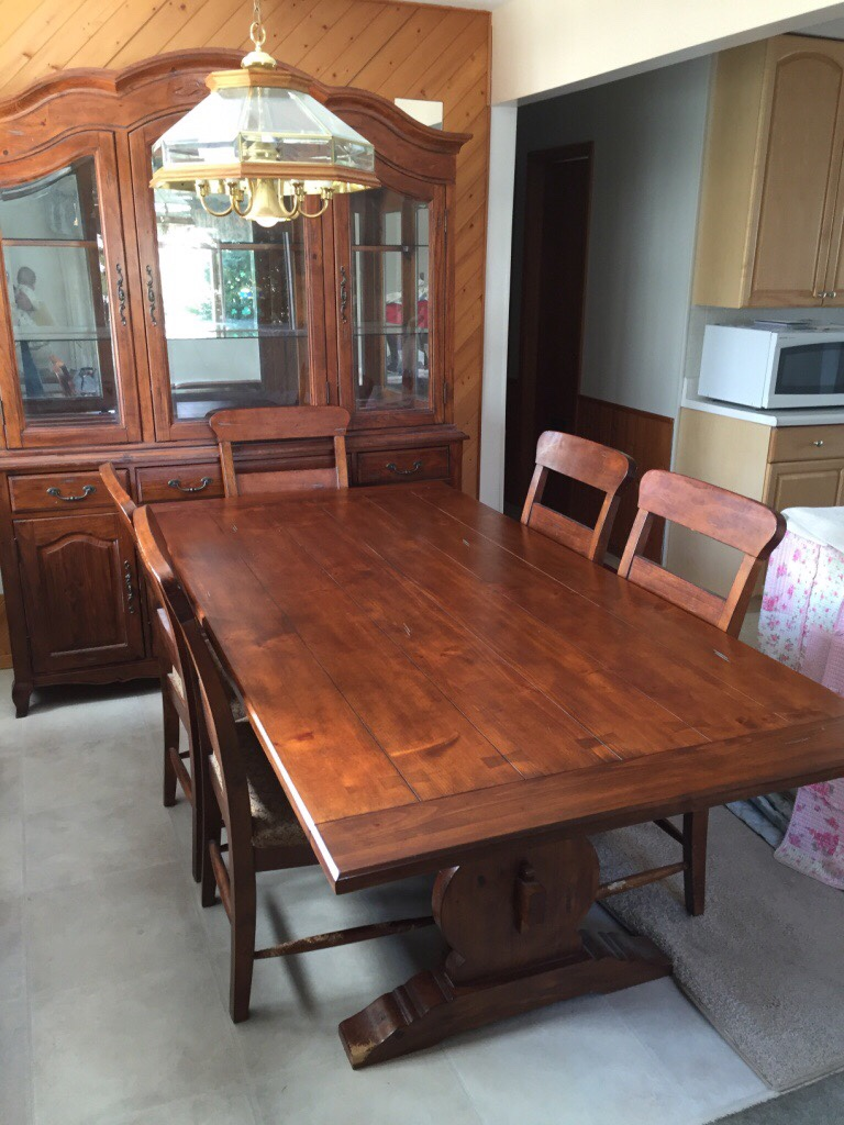 Letgo three piece hutch dining room and in commack ny for 3 piece dining room table