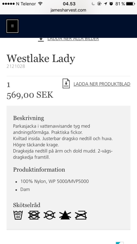Blå Westlake lady coat
