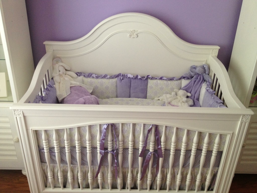 Louisiana slidell baby and child purple and green demask baby bedding