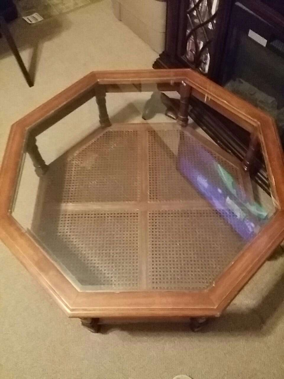 Letgo Sturdy Glass Top Coffee Table In Madison Heights Va