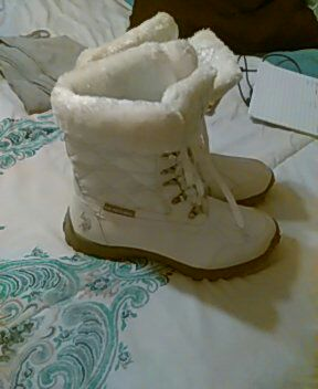 white fur lined winter boots