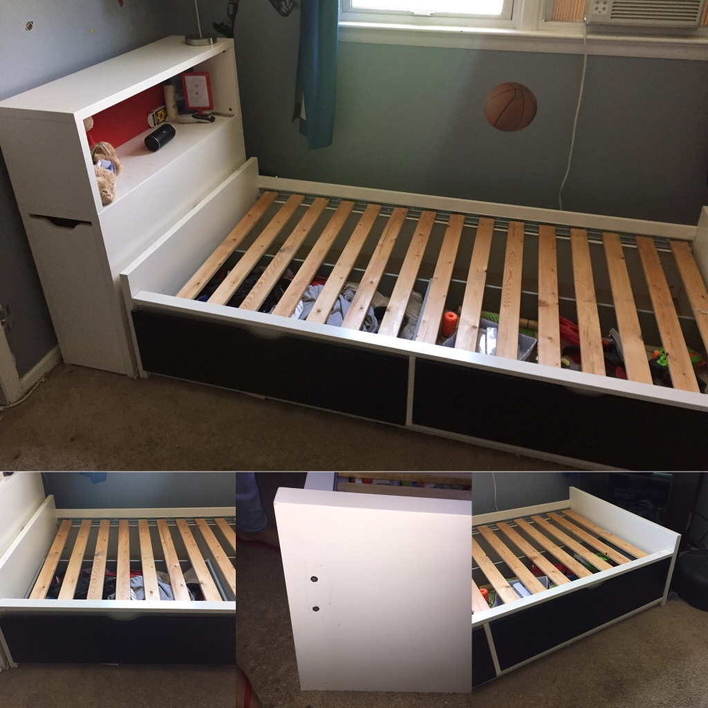 Ikea flaxa twin bed with storage for Sofa jugendzimmer