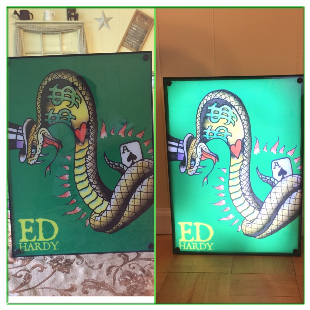 Ed Hardy Light Box *home Bar/ma... In South Erie, PA