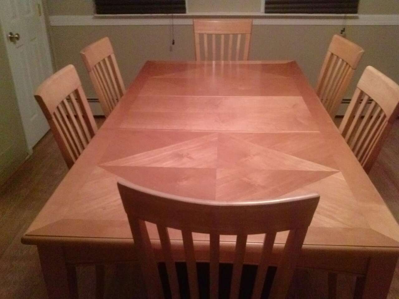 dining room table leaf 6 chairs china cabinet d8fa daabeb