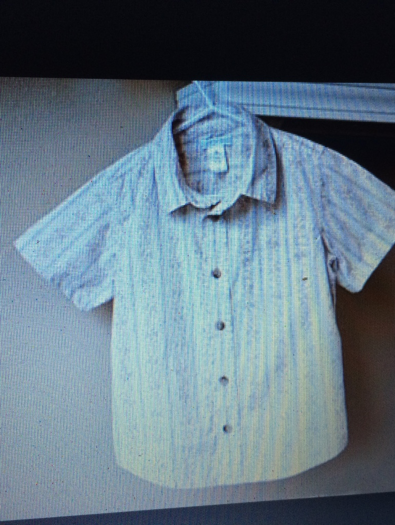 Letgo white and brown button collared shirt in buffalo ny for White shirt brown buttons