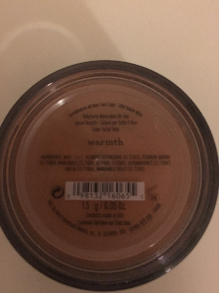 Bare minerals warmth