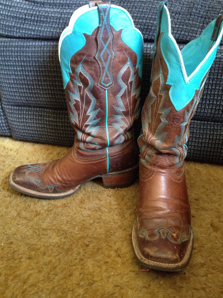 letgo teal and brown cowboy boots in glenwood wa