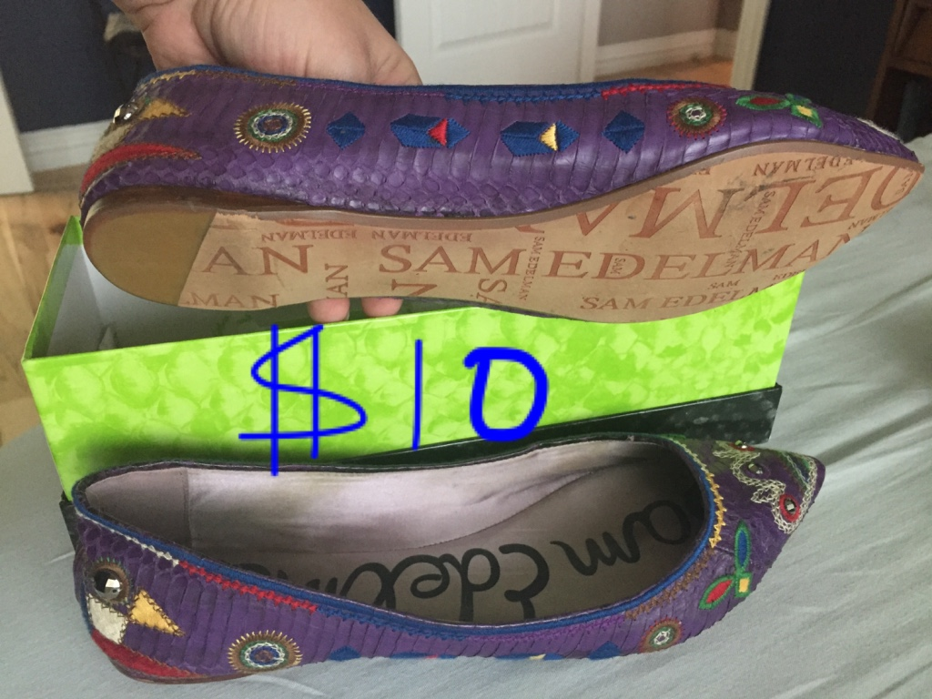 Used crib for sale houston - Women S Purple Leather Flats