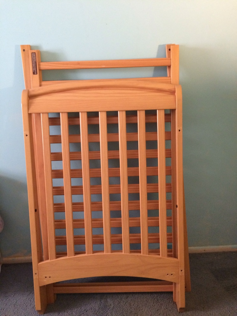 Used crib for sale in nj - Brown Wooden Crib