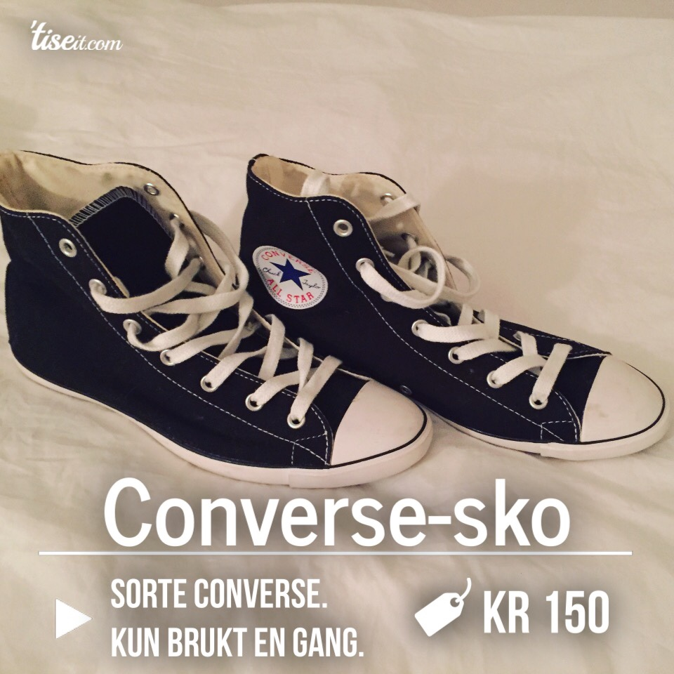 pjokk sorte Converse All Star høye topper