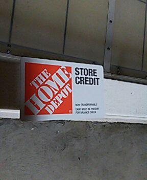 Letgo home depot store credit in valley center ca for 0 home depot credit card