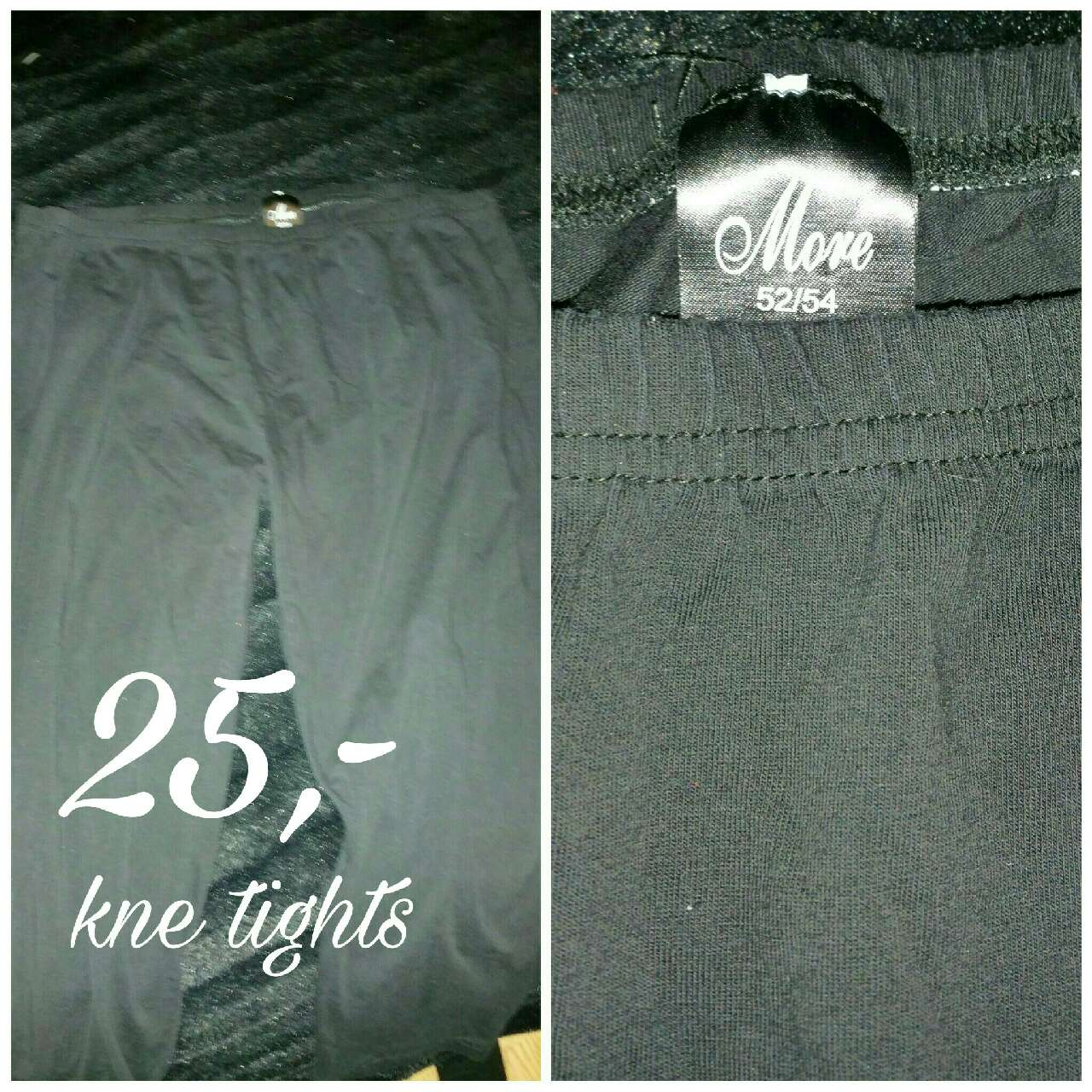 kne tights 25,- aldri brukt