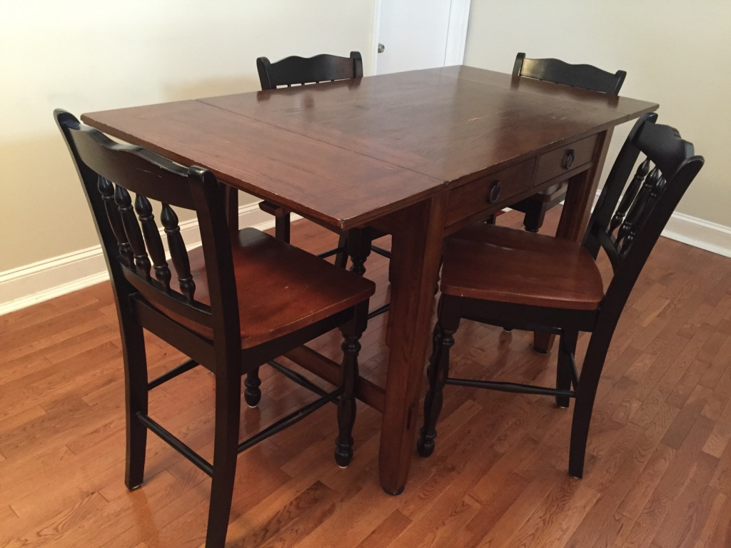 Letgo high top table 4 chairs in passyunk pa - High top dining table with storage ...