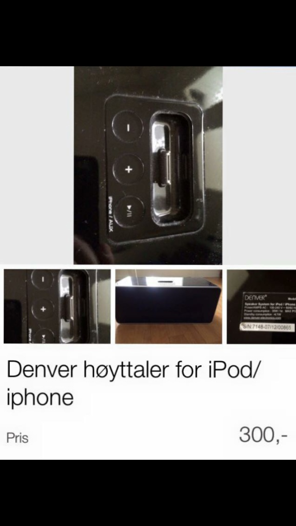 svart denver Høyttaler for iPod / iPhone