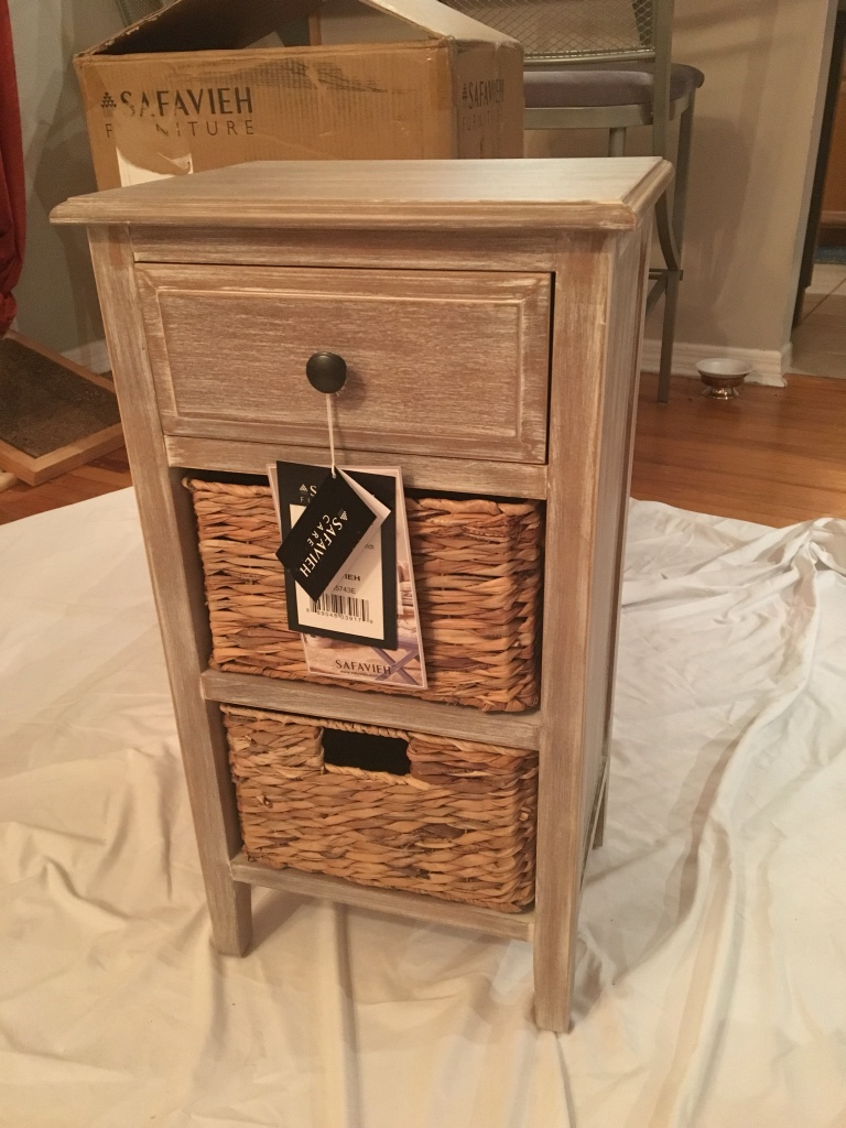 letgo Vintage White Side Table with W in Belle Isle FL