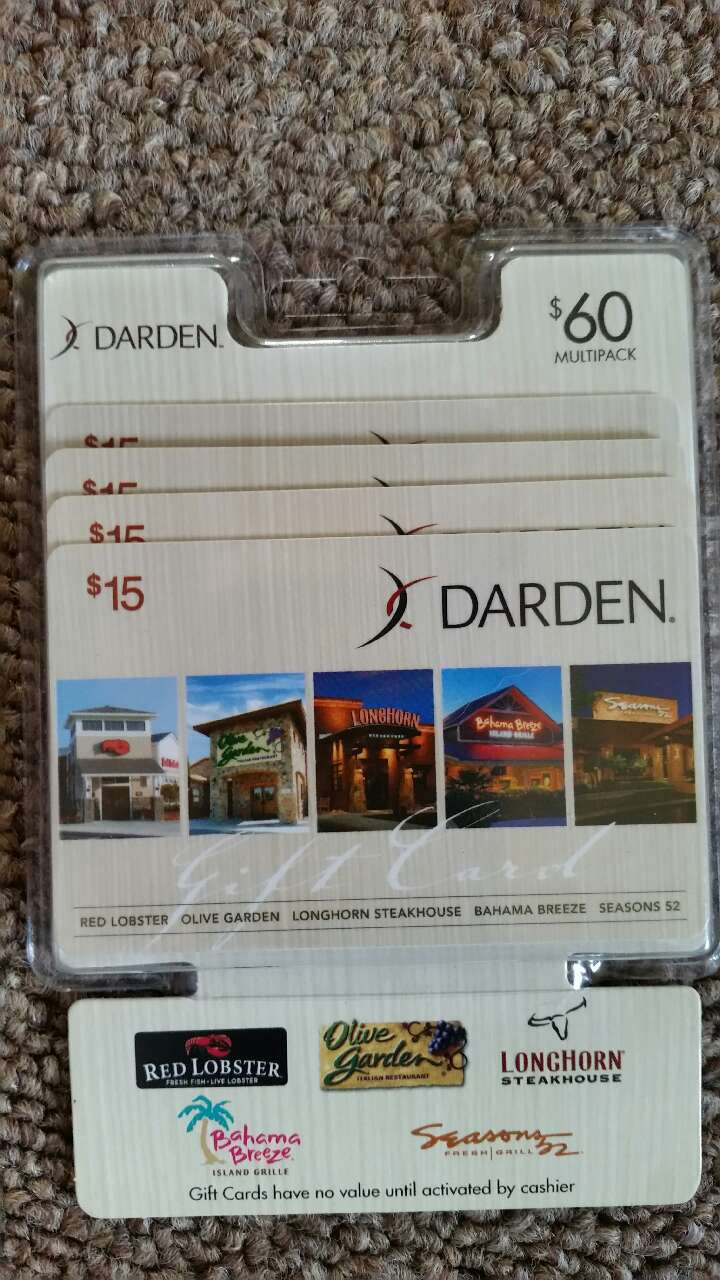 Letgo 60 dollars in darden gift card in smithfield va - Olive garden gift card at red lobster ...