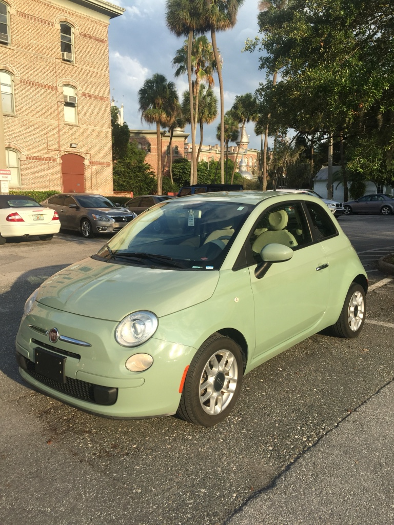 letgo green fiat subcompact car in brickell fl. Black Bedroom Furniture Sets. Home Design Ideas