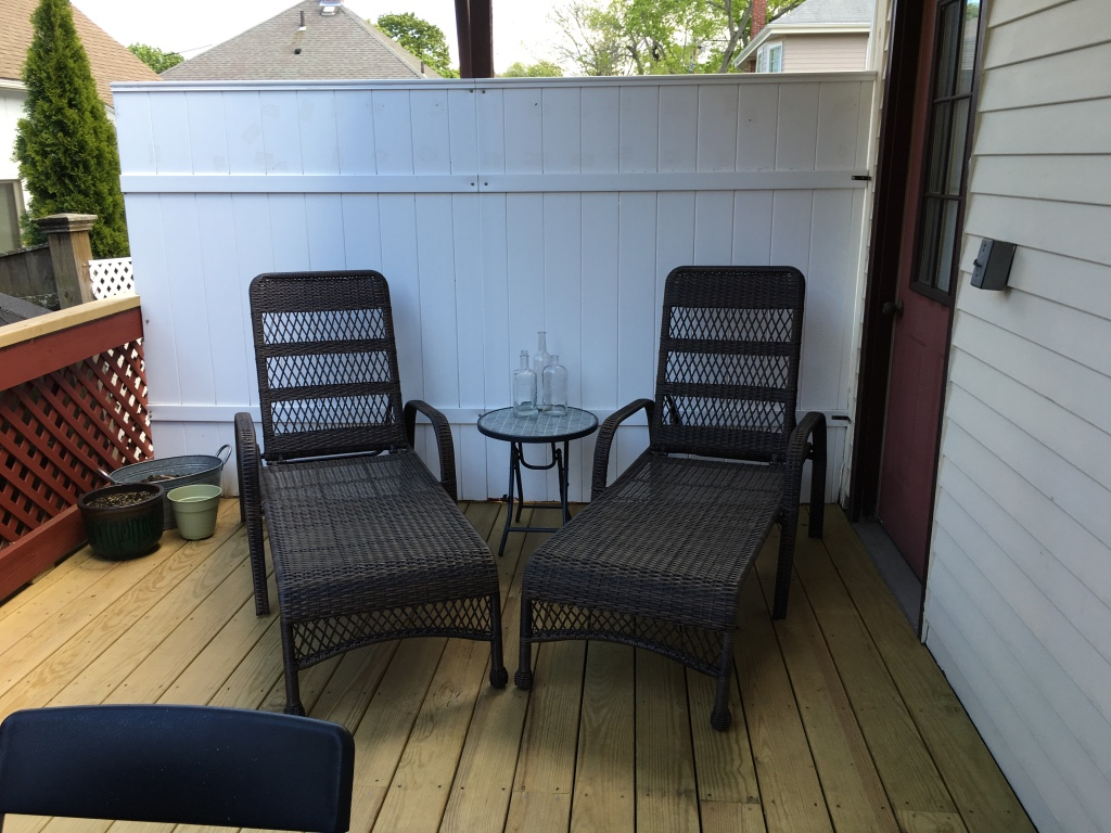 Letgo two wicker chaise lounge ch in east arlington ma for Arlington house jackson patio chaise lounge