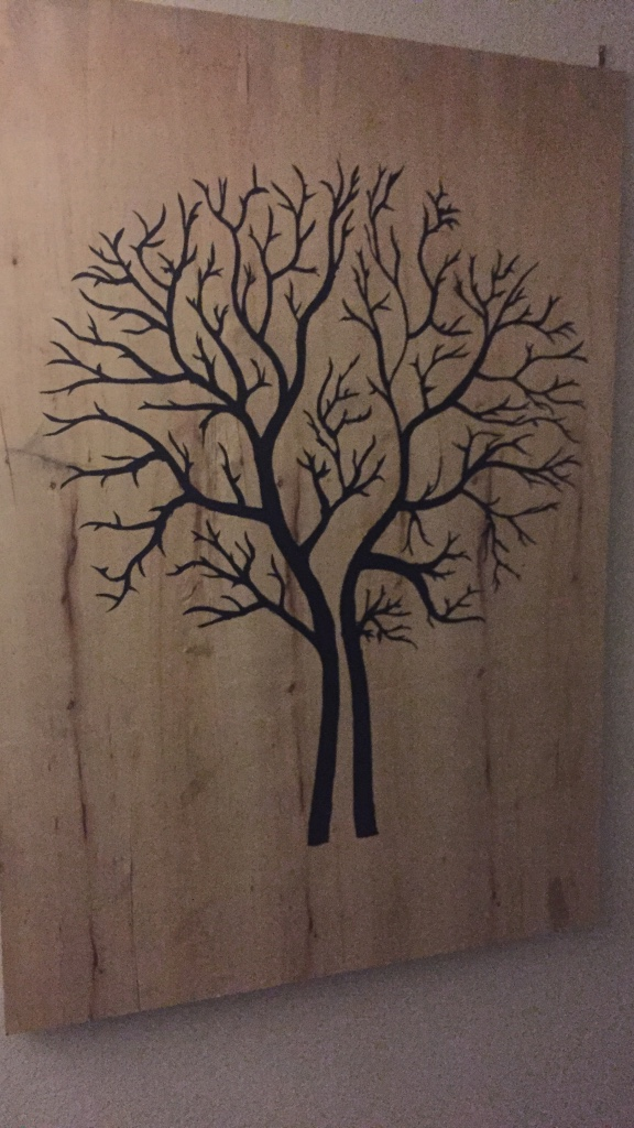 Letgo black tree printed wooden decor in coppell tx for Decoration 75019