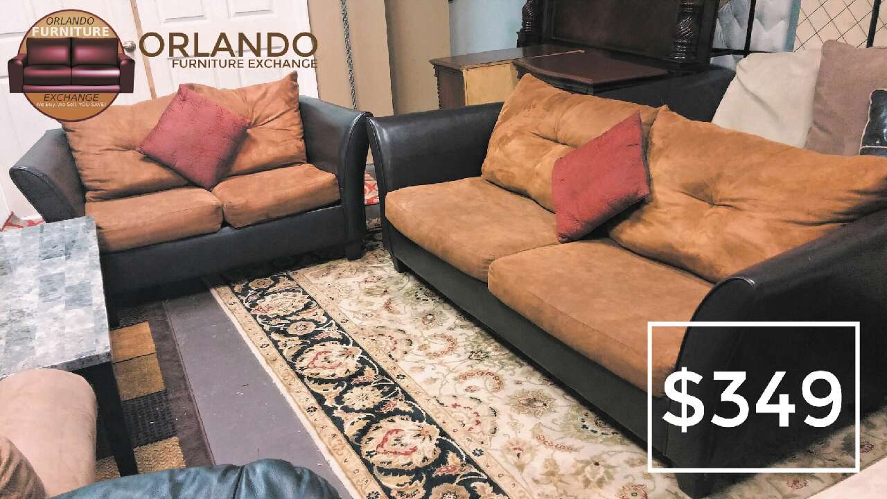 Letgo we finance tan microfiber sofa in goldenrod fl for Couch 0 finance