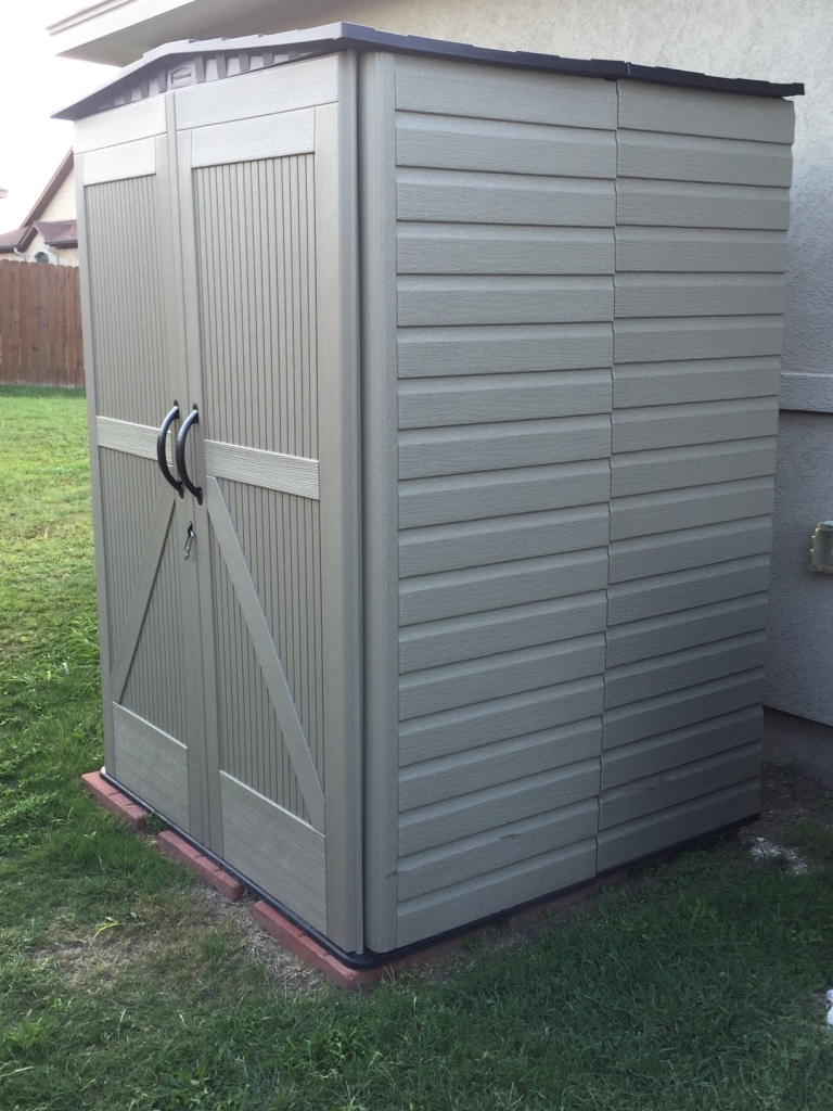 Letgo outdoor storage cabinet utility tool in solms tx for Utility storage shed