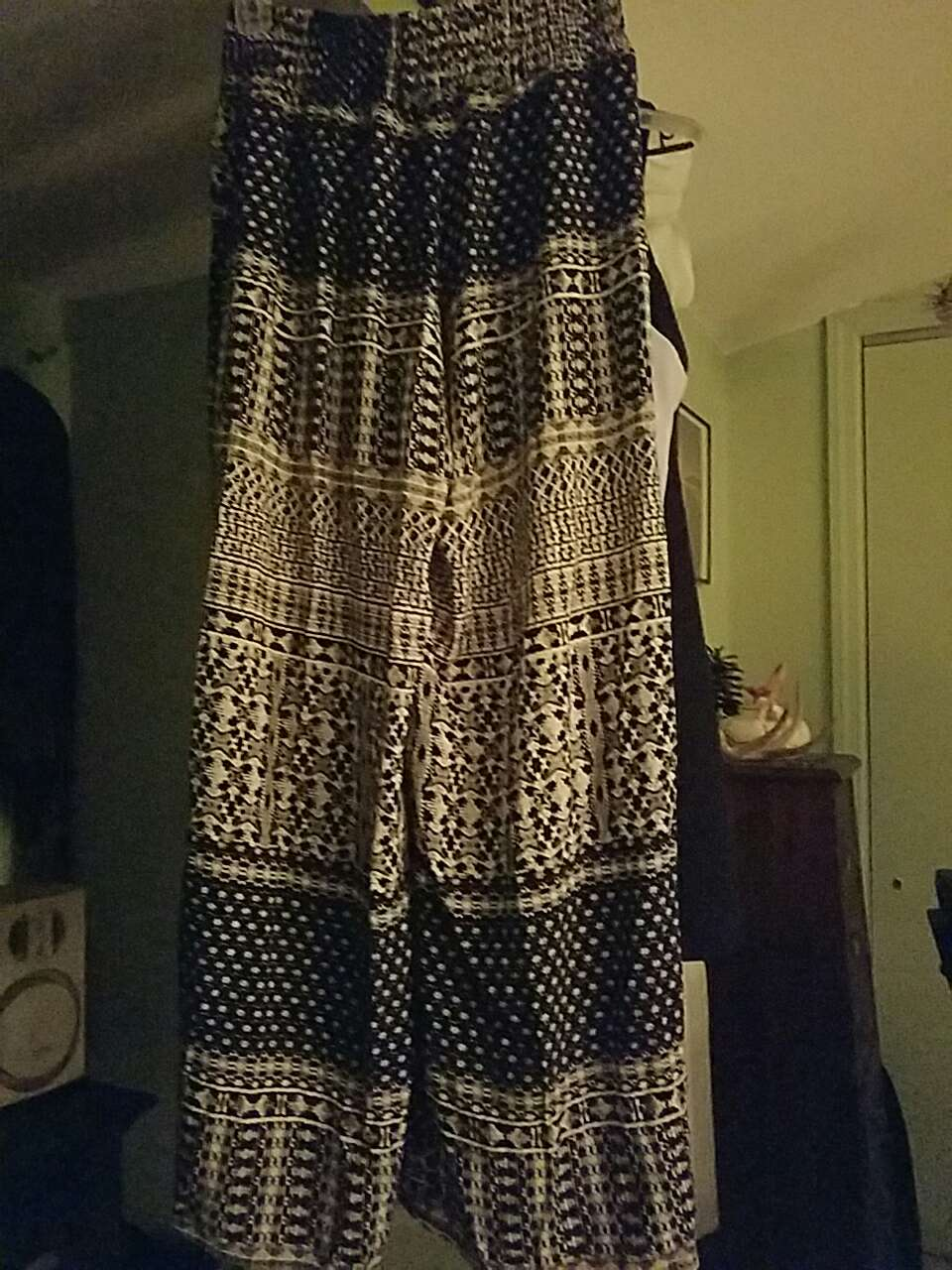 Used crib for sale in nj - Women S Black Tan Tribal Print Pants