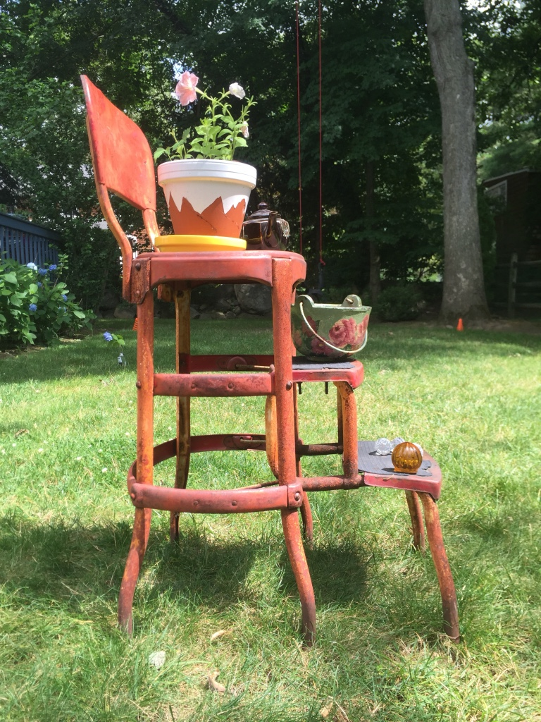 Letgo 50s Vintage Steep Stool Cosco Product In Rye Ny