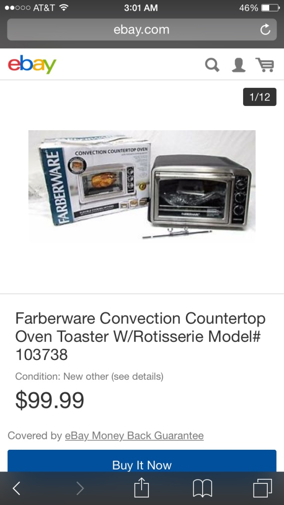 Convection Countertop Oven Farberware : ... Home and Garden Oven Farberware Convection Countertop Oven Toaster