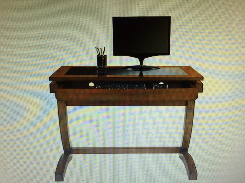 Writing Desk. Full resolution  image, nominally Width 1024 Height 768 pixels, image with #634023.