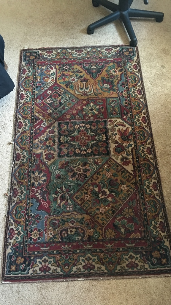 Letgo brown red and grey floral area rug in san diego ca for Red floral area rug