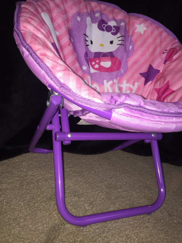 North highlands baby and child hello kitty pink and purple moon chair
