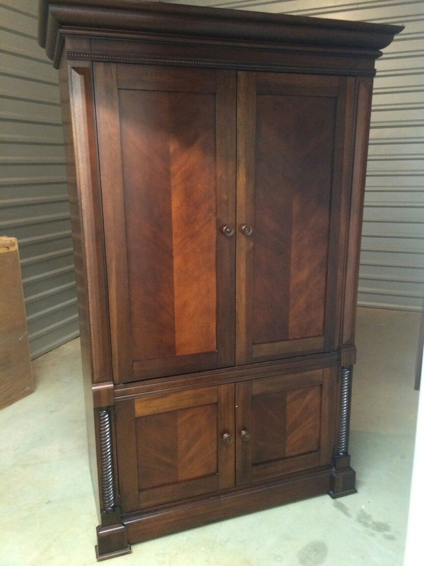 Letgo solid wood tv armoire in fisherville tn