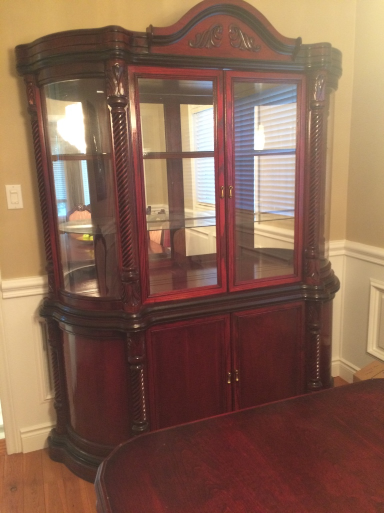Wooden China Cabinet ~ Cherry wood dining set china cabinet in vaughan letgo