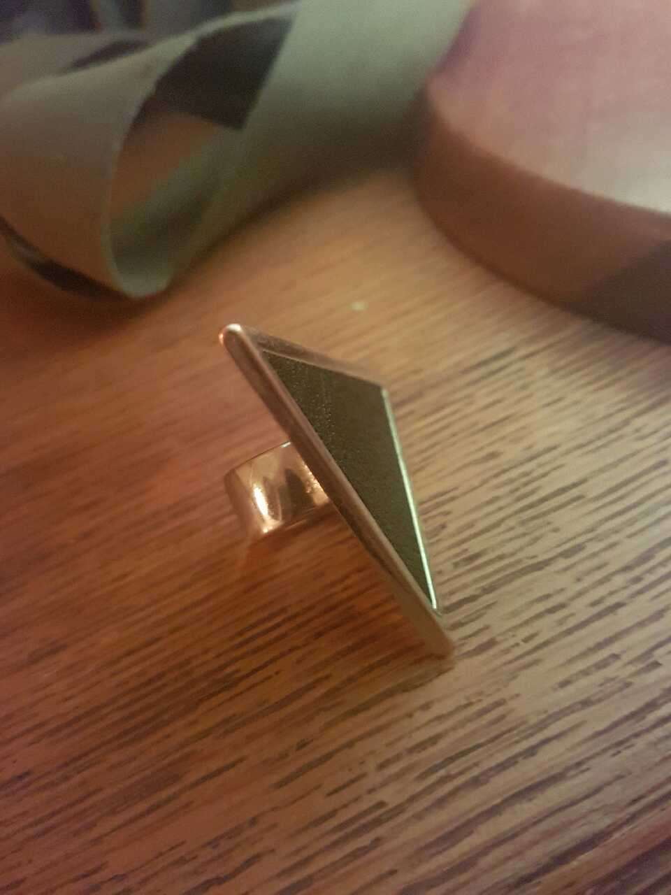 ring, retro, sort triangle