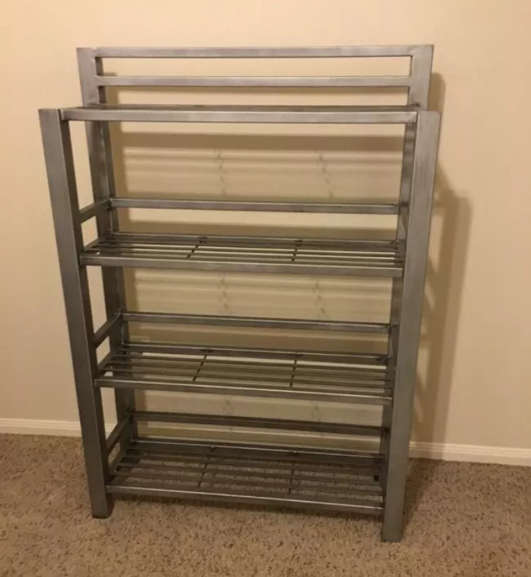 Letgo Modern Metal Book Case Pier 1 Ki In Hufsmith Tx