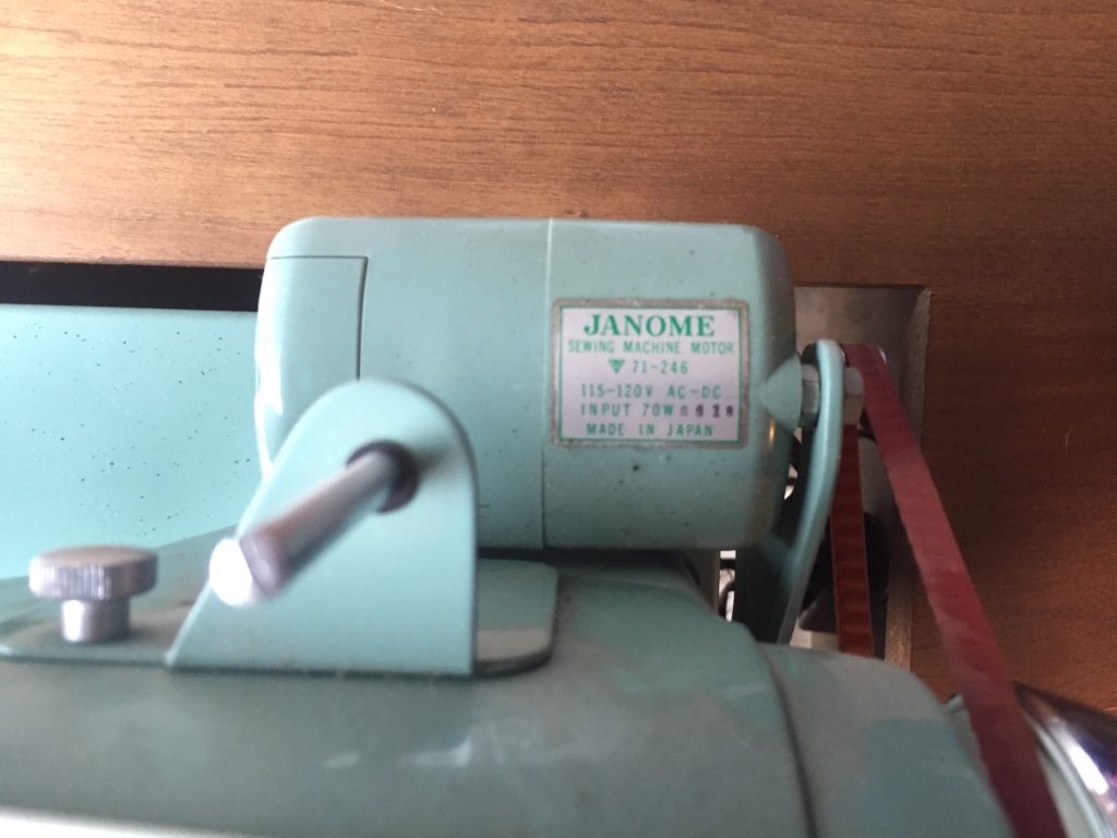 janome teal sewing machine