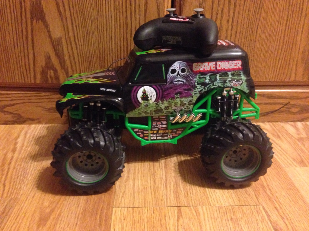 Green Monster Truck Toy : Letgo black green and purple rc monst in burlington wi
