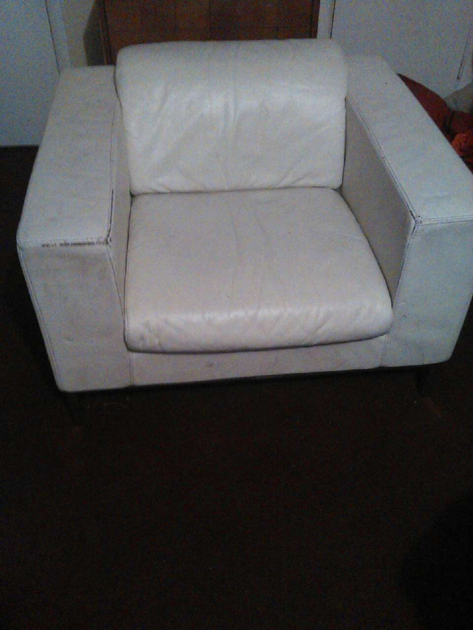 Letgo White Leather Sofa Chair In Dallas Tx