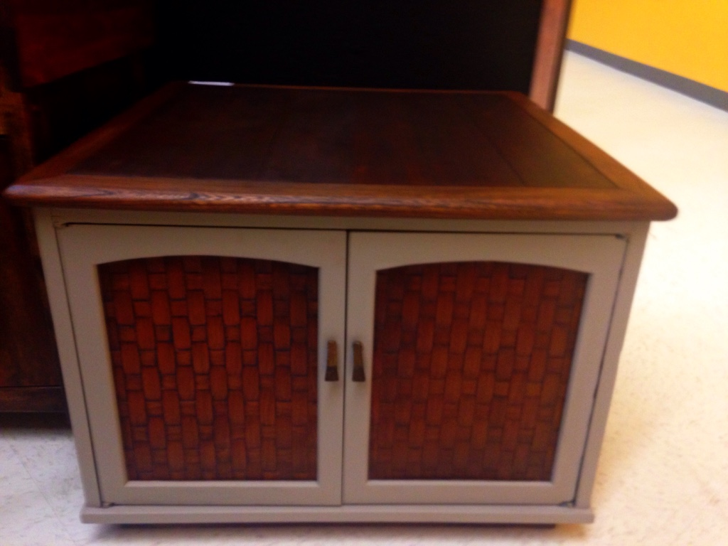 Superb img of Description Vintage Wood Cabinet 'Repurposed' with my own custom chal  with #CB9000 color and 1024x768 pixels
