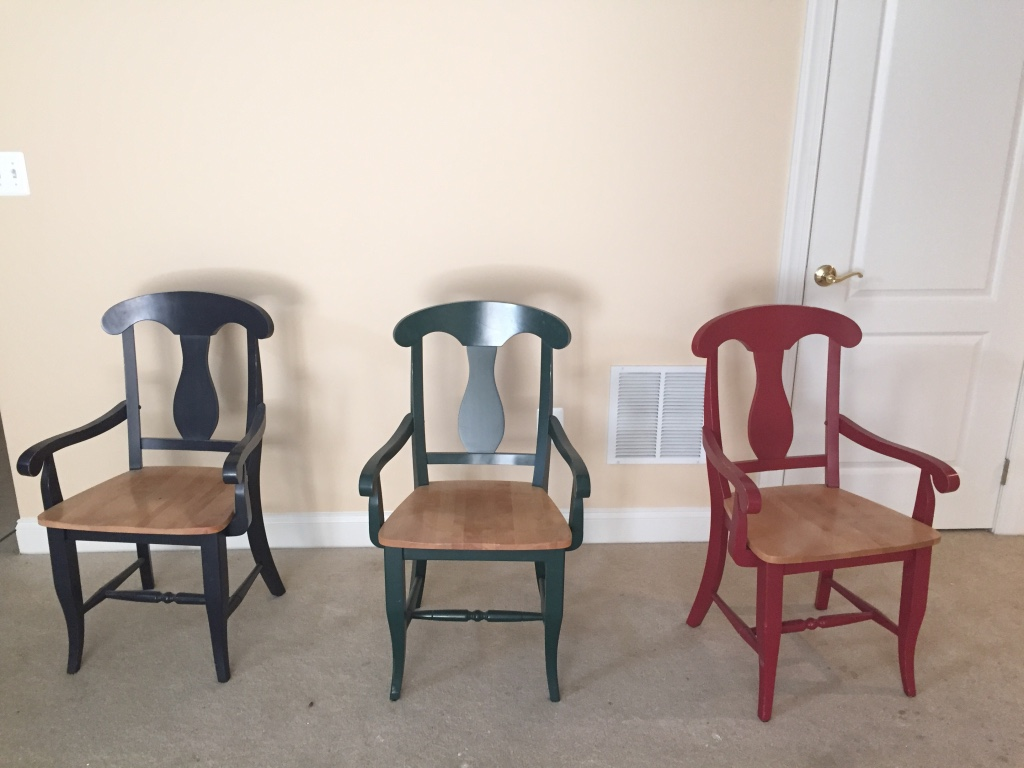 Letgo different colored chairs in aldie va for Different color chairs