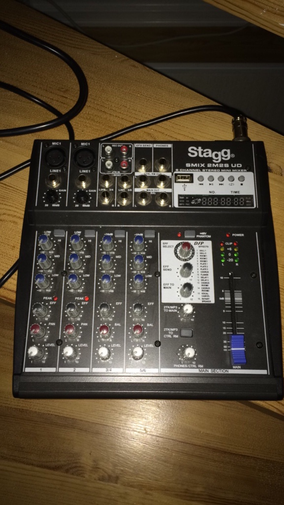 Stagg 6channal steril mini mixer