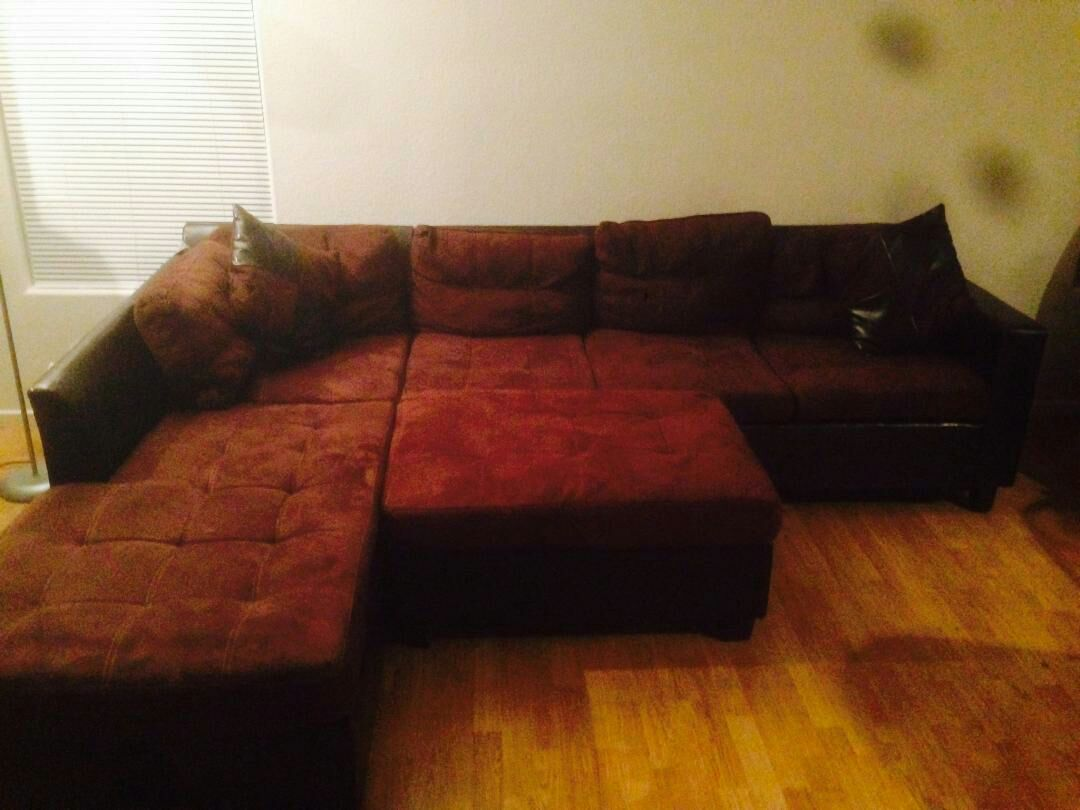 Letgo Leather Suede Sofa Sectional In Arden Nv