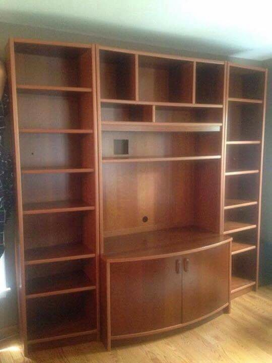 Letgo   Brown Wooden Entertainment Center In Lombard, IL