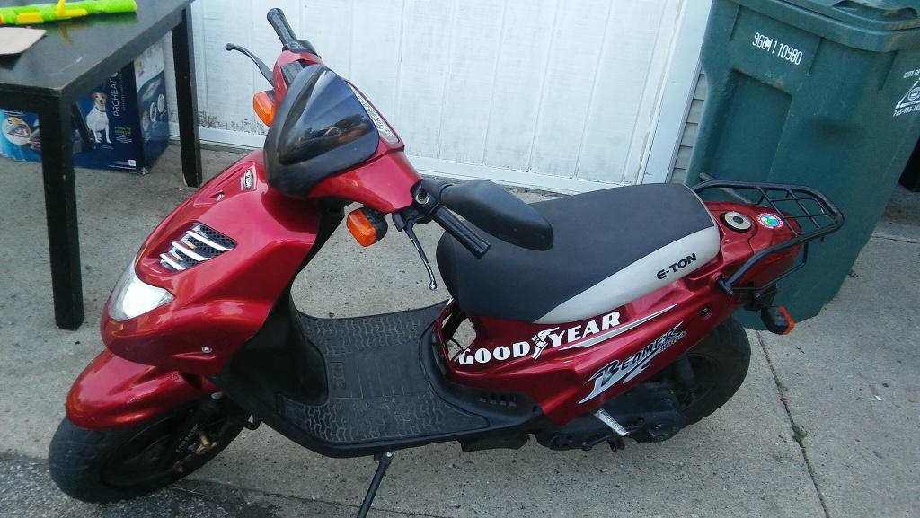 Letgo Good Year Red And Black Motor Scooter In Marion In
