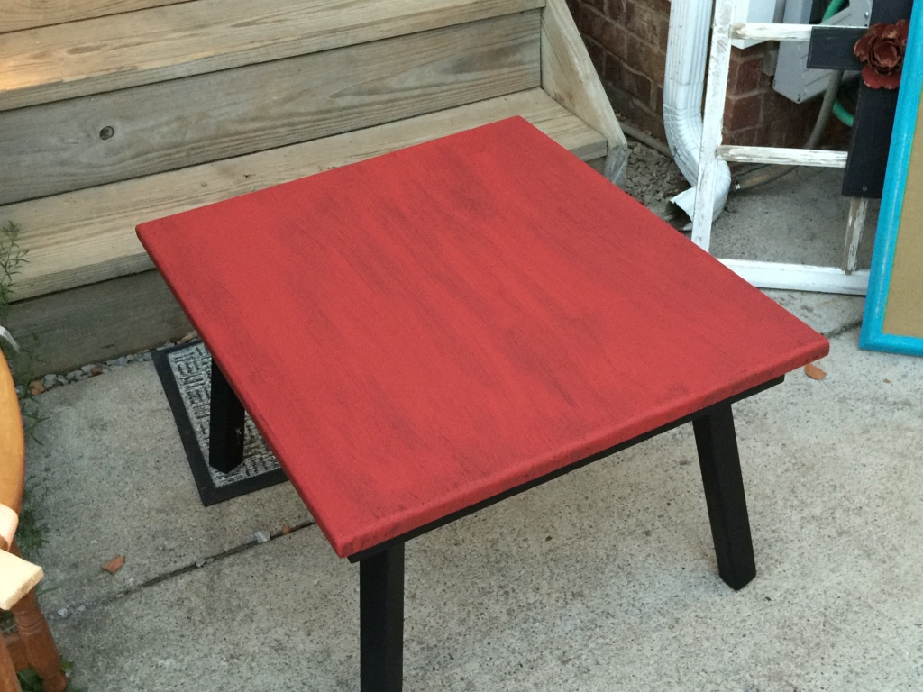 Letgo Red And Black Coffee Table In Smyrna Tn